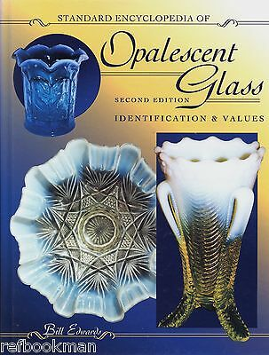 Opalescent Glass 1880-1930 Identification - Patterns Makers Etc. / Book + Values