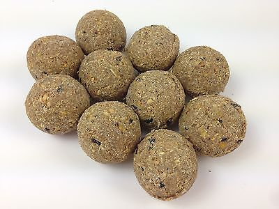 125 x Suet Fatballs Netless Wild Bird Food High Energy Contains Black Sunflower