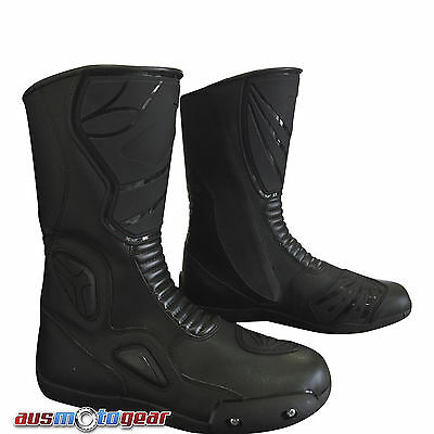 Motorcycle Boots Water Resistant 100% Cowhide Leather Motorbike Touring Boots