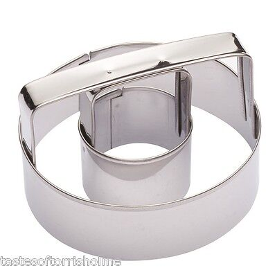 Kitchen Craft Round Circle & Hole Ring Doughnut, Biscuit, Pastry & Cookie Cutter