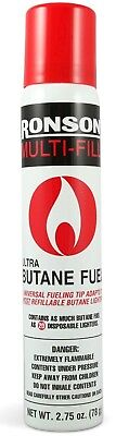 Ronson Ultra BUTANE FUEL Multi Fill Can for refillable lighter Refill Universal