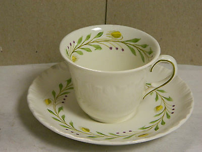 Vintage Of Etruria & Barlston Wedgewood Tea Cup & Saucer Bone China 9772E