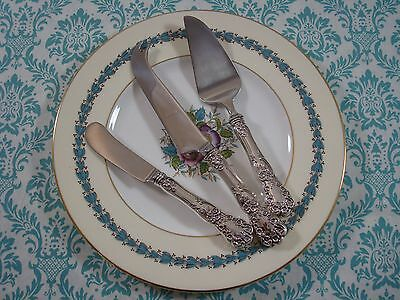 BUTTERCUP BY GORHAM STERLING SILVER 3PC CHEESE KNIFE SERVING SPREADER SET GIFT