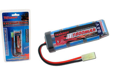 Tenergy 8.4V 1600mAh Flat NiMH Airsoft Battery Pack Weight: 6.5 oz