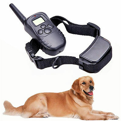 Waterproof Rechargeable 2 Dogs Training Collar LCD Remote Trainer Bark 300m Yard