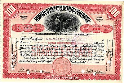 North Butte Mining Co, 100 Shares Of Stock