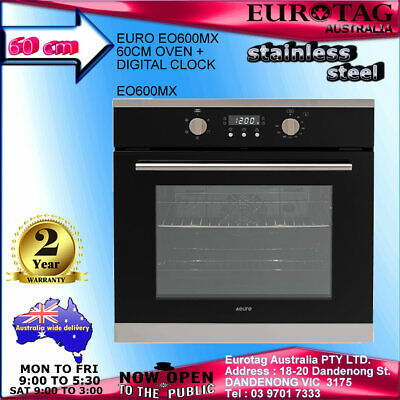 New Eurotag 60Cm 8 Function Electric Fan Forced Grill Wall Oven Best Deal $$$