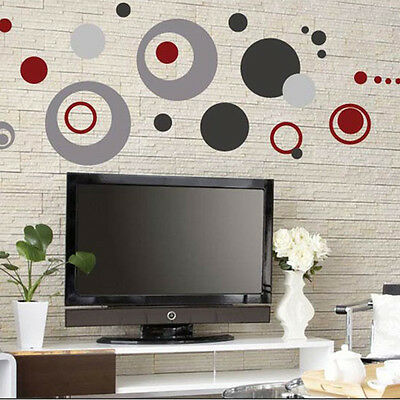DIY Colorful Circle Removable Vinyl Decal Art Mural Home Decor Wall Sticker