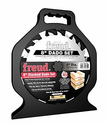 "New Freud Sd208 ""pro Dado"" Titanium Carbide 8"" Saw Blade Kit 8"" Set New In Case"