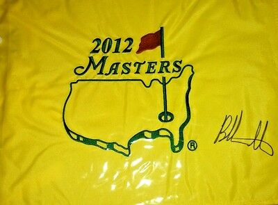 Bubba Watson autograph signed  Masters Flag from 2012 victory