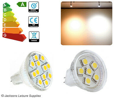Mr11 Regulated (Read Why Below) Led Bulb Smd 12 Volt Spot Light Caravan Lamp