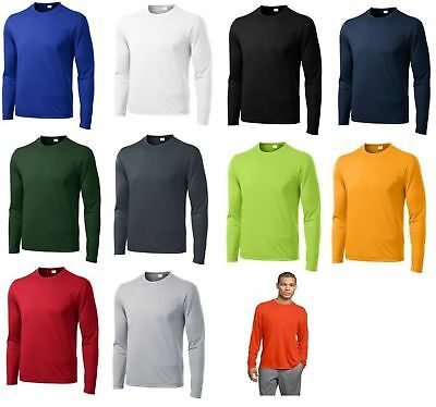 Moisture Wicking Competitor Tee T Shirt Sport Tek St350LS Long Sleeve, Dri-fit