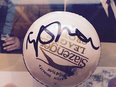 Ashes captain MICHAEL VAUGHAN in person signed slazenger ball