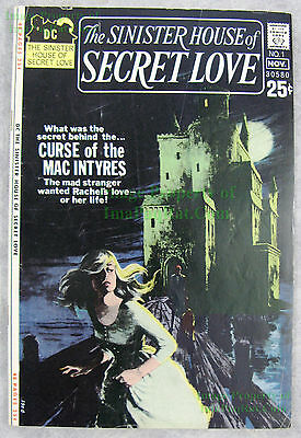 Sinister House of Secret Love #1 1971 DC Horror NICE COPY BIG PICS! Unrestored!