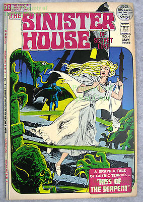 Sinister House of Secret Love #4 1971 DC Horror NICE Copy w/ BIG PICS Unrestored