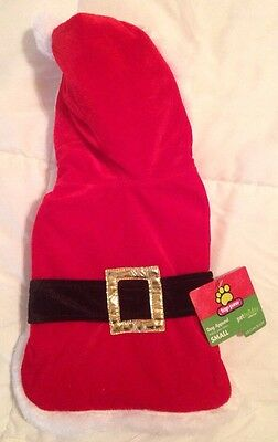 NWOT Top Paw Dog Cat Pet Red Santa Suit Small