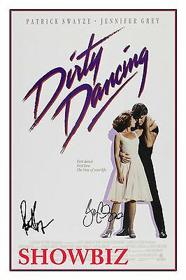 Dirty Dancing - Patrick Swayze & Jennifer Grey Signed Autograph Poster Photo