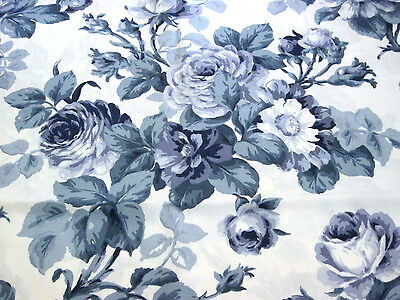 Vintage Chic Blue Roses Toile Design Luncheon Tablecloth 44 X 46