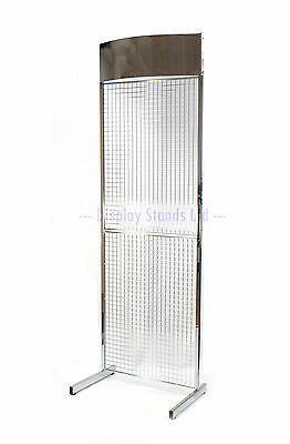 General Purpose Exhibition POS Mesh Panel Shop Retail Stand in Chrome (K26+)