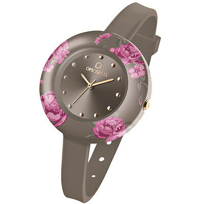 OPS! Objects - Orologio OPS! Flower Grigio Fiori OPSPW-97