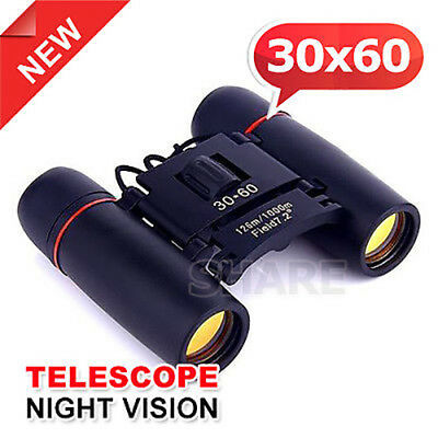 Compact Binoculars 30×60 Zoom Telescope Foldable Day Night Vision
