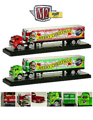 AUTO HAULERS 13 MOON PIE CHRISTMAS EDITION 2pc SET 1/64 BY M2 MACHINES 36000-13