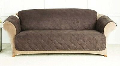 Quilted Microfiber Sofa Cover Chair Throw Pet Dog Kids Furniture Protector