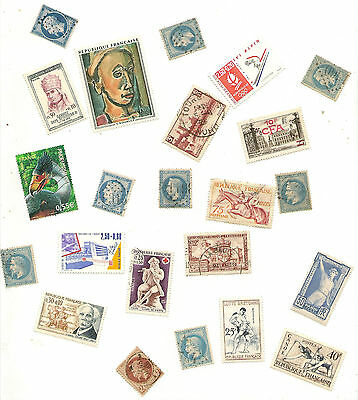 BIG  LOT OF STAMPS FROM FRANCE  OFF PAPER (1000 )
