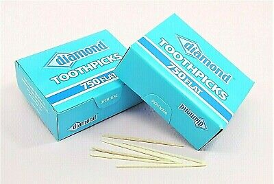 DOUBLE PACK 1500 Wood Diamond Toothpicks || Party Supply, Oral Care, Craft Needs