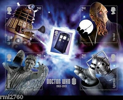 2013 DOCTOR WHO MONSTERS - Mint GB Stamp Mini Sheet  MS3451