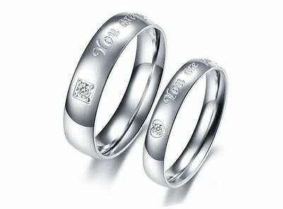 "Fashion Titanium Steel Ring ""you are perfect in my mind"" Wedding Lover gift JZ13"