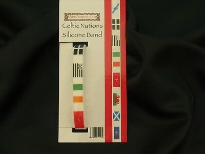 Celtic Nations Silicone Band includes Isle of Man