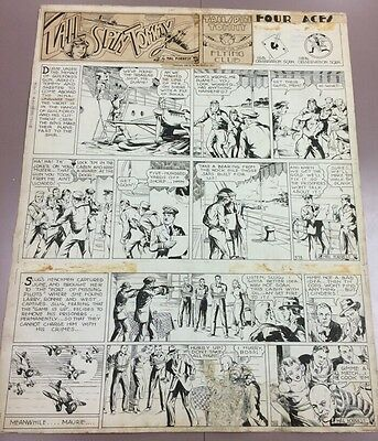 Tail Spin Tommy ORIGINAL ART PAGE Hal Forrest 1936 Newspaper Comic Strip