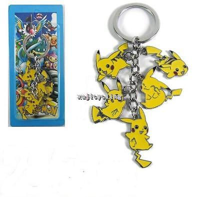 1 Japan Anime Pokemon Pikachu Pokedoll Figure Pendant Metal Keychain Key Ring
