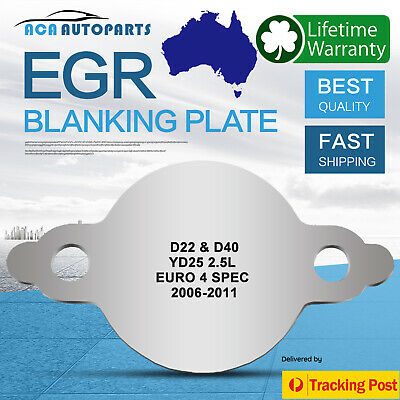 EGR Blanking Plate Navara D22 D40 2.5L YD25 Common Rail Euro4 spec 06-11 no hole