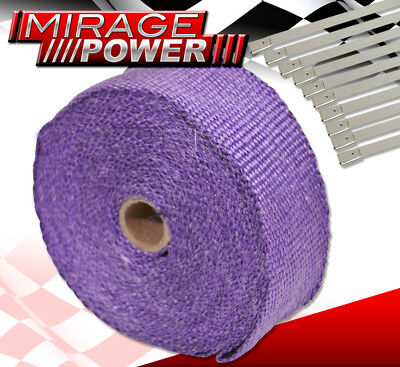 30 Feet Heat Shield Wrap Exhaust Header Intake Turbo Supercharge+ Stainless Ties
