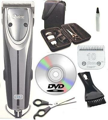 New Oster A5 Outlaw 2-Speed Turbo Dog Animal Clipper Case,DVD,Shears #10 Blade