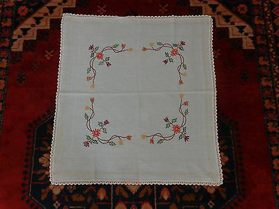 Hand Made Cross Stitched Embroidery  Greek Cloth