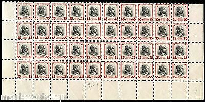 United States Scott#834 Calvin Coolidge $5 Block Of  40  Mint Nh