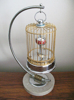 Vintage Birdcage Clock With Marble Base  - Great Christmas Gift