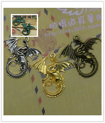 wholesale 5/15pcs Retro Style Fantasy dragon hobbit Lord of the rings pendant