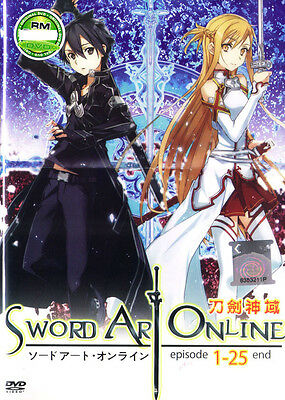 Sword Art Online DVD Complete Series (1-25)  English Sub - NEW
