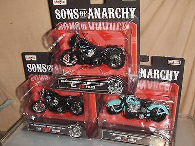 Toy Maisto 1:18 Harley Davidson Sons Of Anarchy  Set of 6 -  series 1 & 2