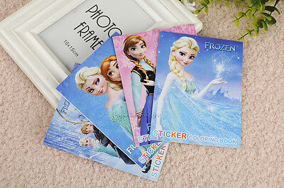 1/5/10pcs Frozen Coloring Book 8 pages with Stickers for Kids Puzzle Painting