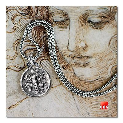 Sterling Silver Byzantine Angel Coin Jewelry Matching Set / Earrings or Necklace
