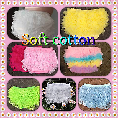 Baby Girl Bloomers Ruffle Nappy Cover  7 Diferent Colours Soft Cotton