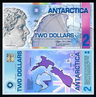 Antarctica, $2, 2008, Polymer -> Pink Stripe >Out of Print