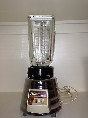 Vintage Osterizer Imperial Blender Chrome Beehive Base Glass Cup Model 458