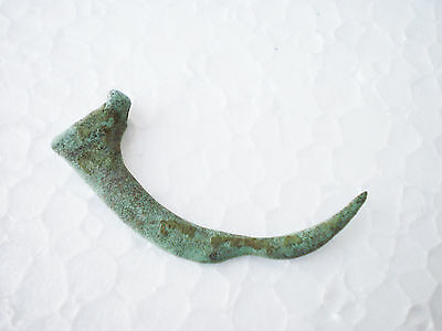 Great Ancient VIKING Bronze PENDANT Amulet FANG circa  8 - 9 century AD