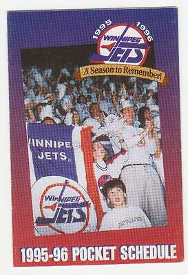 1995-96 Winnipeg Jets Pocket Schedule Mint (A208)